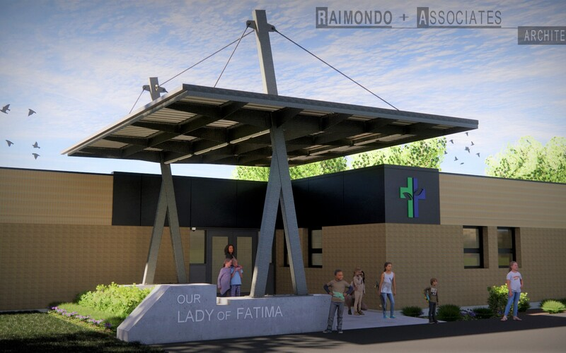 New Entrance Canopy Coming at Our Lady of Fatima Elementary School