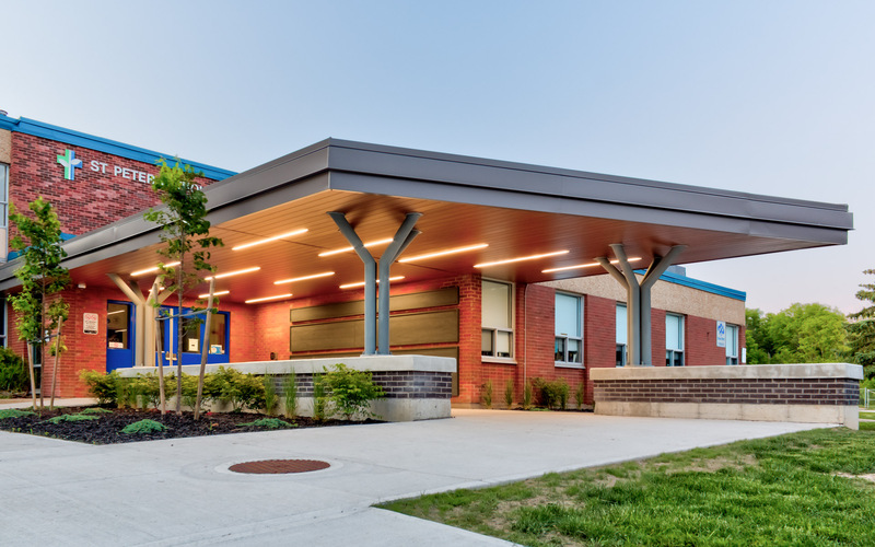 New Entrance Canopy Completed for St. Peter Elementary School