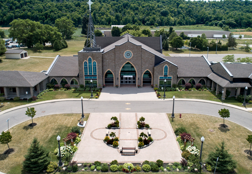 Ariel View of the Heart of May chruch